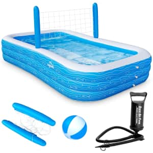 """Ingbelle 118"""" Inflatable Pool w/ Volleyball Net for $136"""