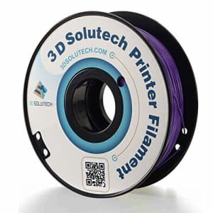 3D Solutech Real Purple 3D Printer PLA Filament 1.75MM Filament, Dimensional Accuracy +/- 0.03 mm, for $21
