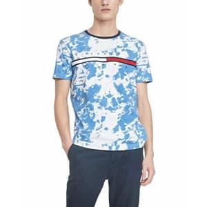Tommy Hilfiger Men's Regular Short Sleeve Logo T-Shirt, Bright White-pt, XXL for $57