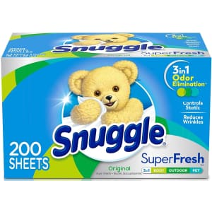 Snuggle Plus 200-Count SuperFresh Fabric Softener Dryer Sheets for $4.54 via Sub. & Save