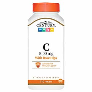 21st Century Natural C 1000 with Rose Hips Caplets, 110 Count (22383) for $11