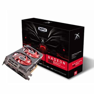 XFX Radeon RX 550 4GB DDR5 Double Dissipation Graphics Card RX-550P4PFG5 for $370
