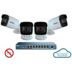 Uniden 1080p Outdoor 4-Camera Security System w/ 9-Port PoE Switch for $89