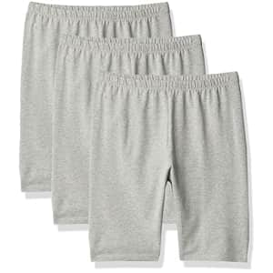 The Children's Place Girls Bike Shorts 3-Pack, H/T Grey, XXL(16) for $13
