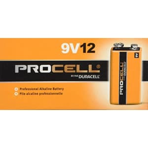 Duracell Procell 9 Volt Batteries,12 Count Pack of 2 for $19
