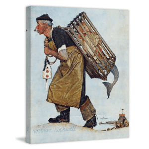 """Marmont Hill Norman Rockwell's """"Mermaid"""" 24"""" x 29"""" Canvas Wall Art for $109"""