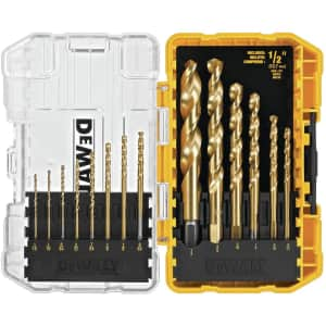 DeWalt 14-Piece Titanium Speed Tip Drill Bit Set for $17