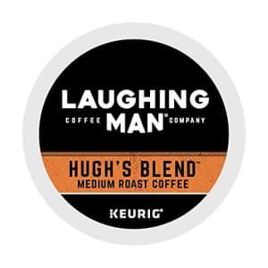 Laughing Man Hugh's Blend, Single-Serve Keurig K-Cup Pods, Medium Roast Coffee, 16 Count for $26