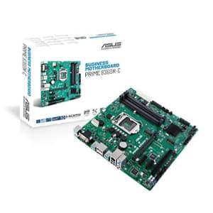 ASUS Prime B360M-C/CSM LGA1151 (Intel 8th Gen) DDR4 DP HDMI VGA M.2 B360 Micro ATX Motherboard for $90