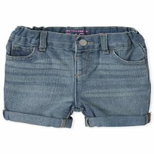 The Children's Place Baby Girls' Denim Shorts, Twyla WASH, 4T for $8
