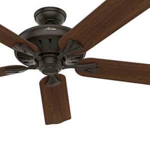 Hunter Fan 60 inch Traditional New Bronze Indoor Ceiling Fan with Remote Control (Renewed) for $116