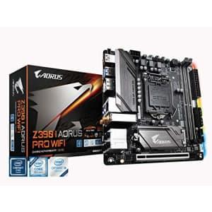 GIGABYTE Z390 I AORUS PRO WiFi (Intel LGA1151/Z390/Mini-Itx/M.2/Realtek ALC1220-Vb/Intel GbE for $412