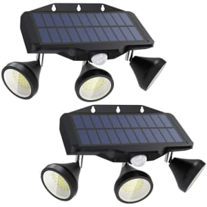 Nowes Solar Security Lights 2-Pack for $17
