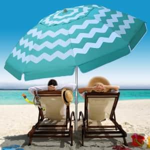 Multifun 7-Foot Beach Umbrella for $27