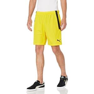 PUMA Men's TeamLIGA Shorts, Cyber Yellow/Black, M for $19