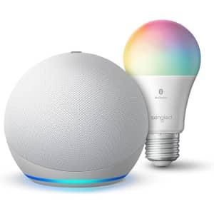 4th-Gen Amazon Echo Dot w/ Sengled Color Smart Bulb for $25 for Prime members