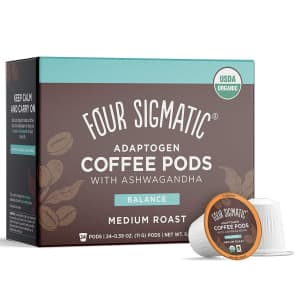 Four Sigmatic Adaptogen Coffee Pods with Ashwagandha 24-Pack for $19 via Sub & Save