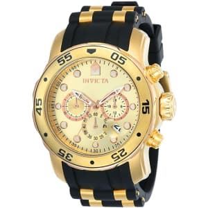 Invicta Men's Pro Diver 18k Gold Ion-Plated Stainless Steel Watch for $86