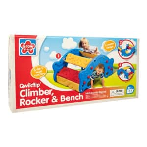 Grow'n Up 3-in-1 Climber, Rocker & Bench for $66