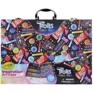 Crayola 110-Piece Trolls World Tour Art Case for $23