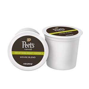 Peet's Coffee Decaf House Blend, Dark Roast, 16 Count Single Serve K-Cup Decaffeinated Coffee Pods for $23