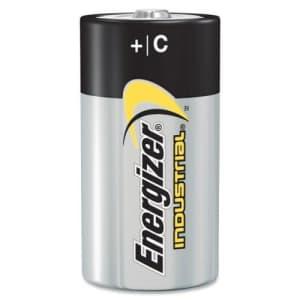 Pack of 100 Energizer Batteries EN93 C Size Industrial Alkaline Battery - Bulk Pack for $77