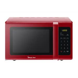 Magic Chef MCD993R 0.9 Cubic-ft Countertop Microwave (Red) for $90