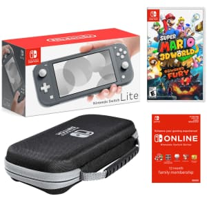 Nintendo Switch Lite Super Mario 3D World + Bowser's Fury Bundle for $280 for members