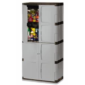 Rubbermaid 6-Foot 4-Shelf Double Door Resin Cabinet for $291