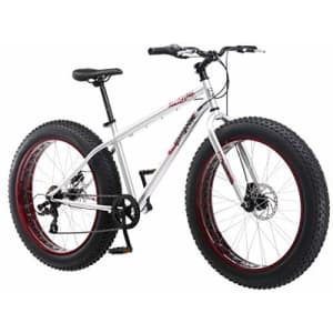 Mongoose Malus Adult Fat Tire Mountain Bike, 26-Inch Wheels, 7-Speed, Twist Shifters, Steel Frame, for $450