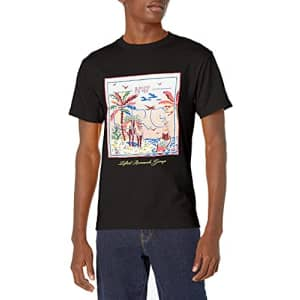 LRG Lifted Research Group Men's Graphic Design Logo T-Shirt, Black NETO, S for $23