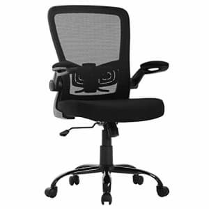 BestOffice Ergonomic Office Chair Cheap Desk Chair Mesh Computer Chair with Lumbar Support Flip Up Arms Swivel for $36