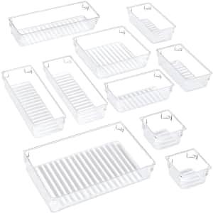 Puroma 10-Piece Desk Drawer Organizer Tray Set for $14