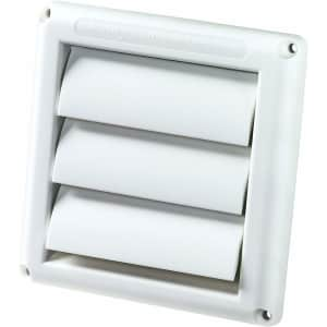 """Deflecto Supurr-Vent 4"""" Louvered Outdoor Dryer Vent Cover for $4"""