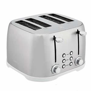 Amazon Basics 4-Slot Toaster, Brushed Silver for $46