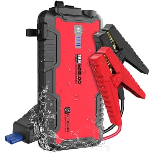 Gooloo 1,500A Power Bank and Car Jump Starter for $80