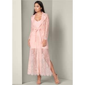 Venus Women's Lace Detail Coat Dress for $16
