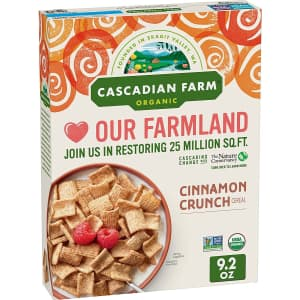 Cascadian Farms Organic 9.2-oz. Cinnamon Crunch Cereal for $2.08 w/ Sub & Save