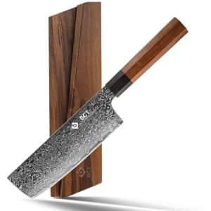 """BGT 7"""" Nakiri Japanese 67 Layer VG-10 Damascus Steel Chef's Knife for $42"""