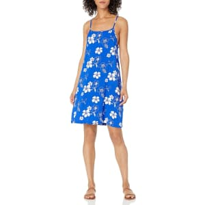 28 Palms Women's Hawaiian Print Spaghetti Strap Shift Dress for $8