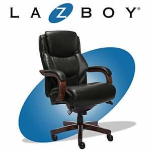 La-Z-Boy Delano Big & Tall Executive Office Chair | High Back Ergonomic Lumbar Support, Bonded for $469