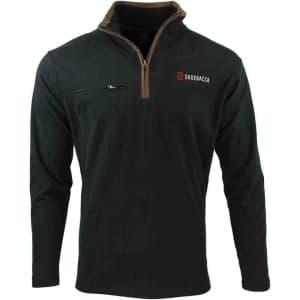 Shoebacca Men's Brushed Jersey 1/4 Zip Jacket for $20