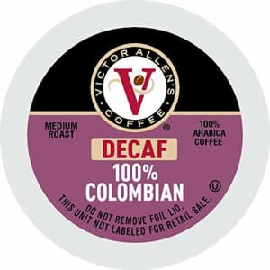 Victor Allen's coffee Decaf 100% Colombian, Medium Roast, 80Count Single Serve Coffee Pods for for $26