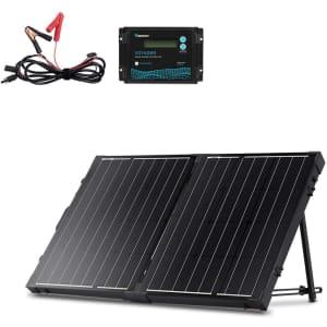 Renogy 100-Watt 12-Volt Monocrystalline Off Grid Suitcase Kit for $187