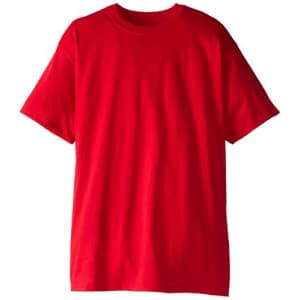 Hanes Men's Size Short-Sleeve Beefy T-Shirt (Pack of Two), Deep Red, 3X-Large/Tall for $19