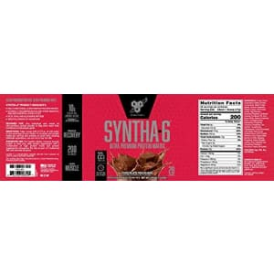 BSN SYNTHA-6 Whey Protein Powder, Micellar Casein, Milk Protein Isolate, Chocolate Milkshake, 28 for $37