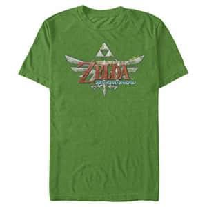 Nintendo Men's Legend of Zelda The Skyward Sword Royal Crest Game Logo T-Shirt, Kelly, XXX-Large for $20