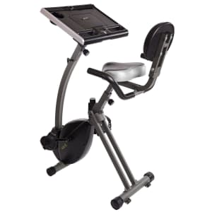 Stamina Wirk Ride Exercise Bike Workstation and Standing Desk for $185