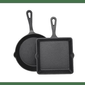 Sedona Cast Iron 2-Piece Mini Skillet & Griddle Set for $10