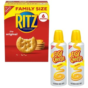 Ritz Original Crackers and Easy Cheese Variety Pack for $10